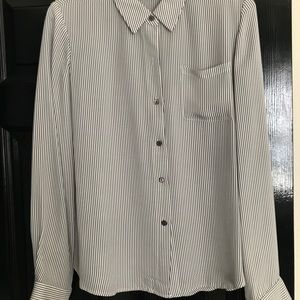 Theory button down blouse